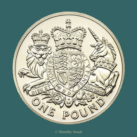 Royal Arms One Pound coin 2015 coins and medals