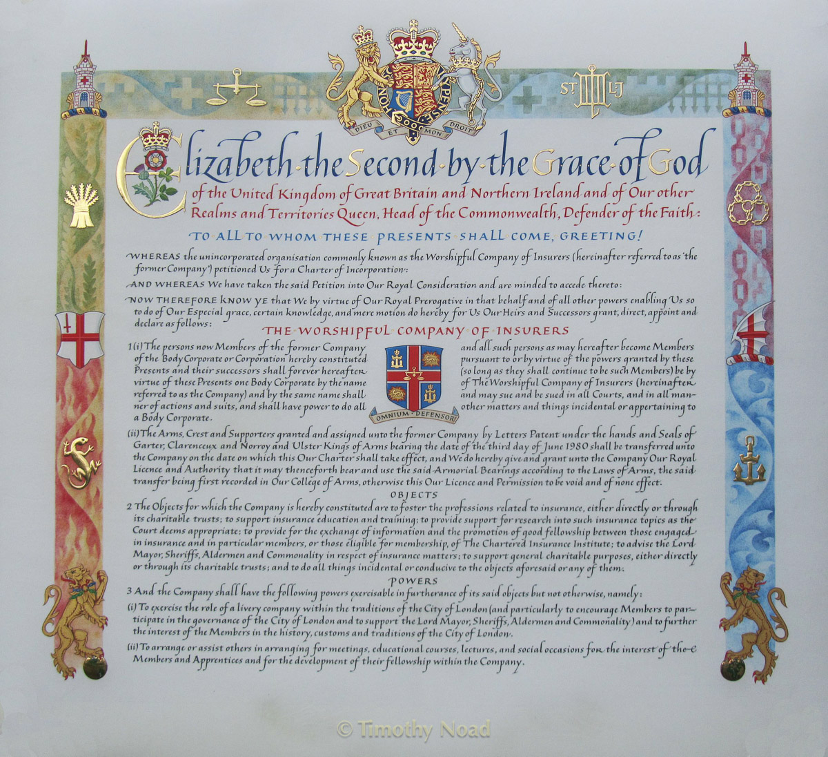 Insurers Charter royal charters