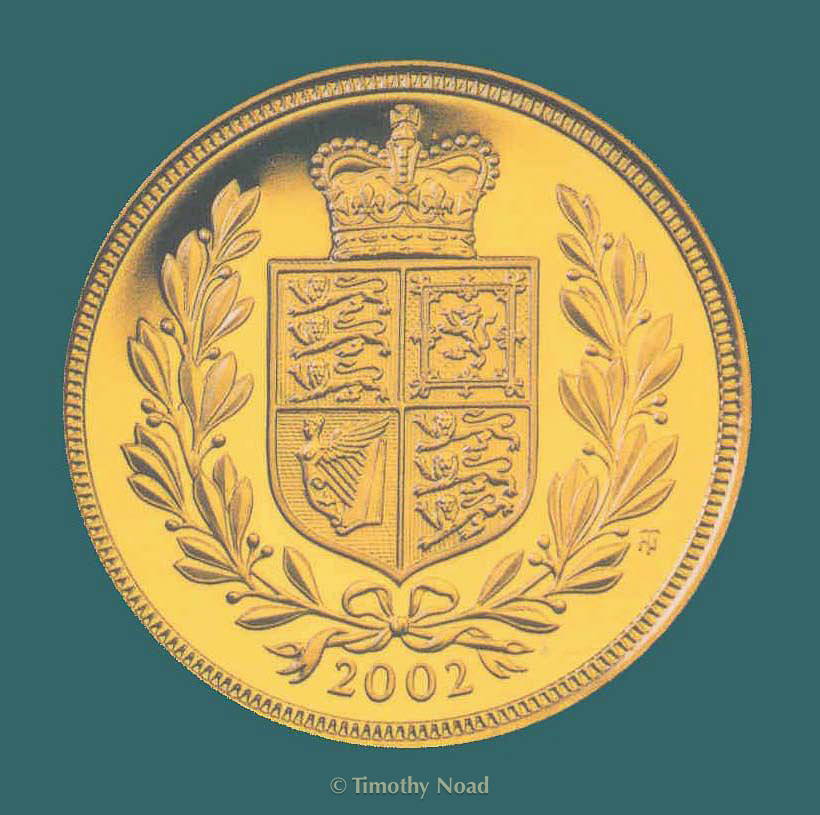 Golden Jubilee Sovereign 2002 coins and medals