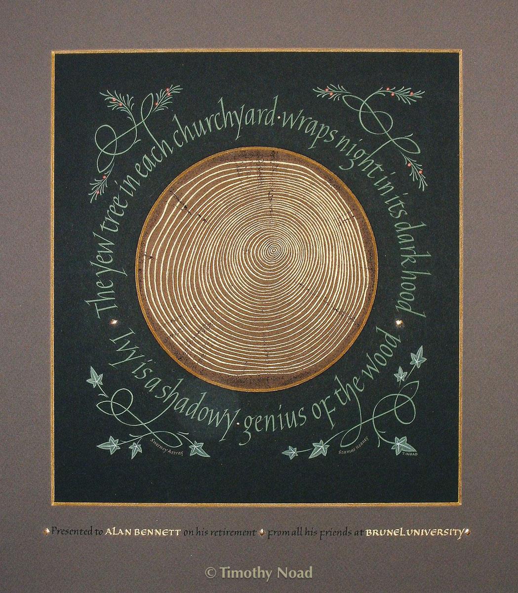 Yew tree calligraphy