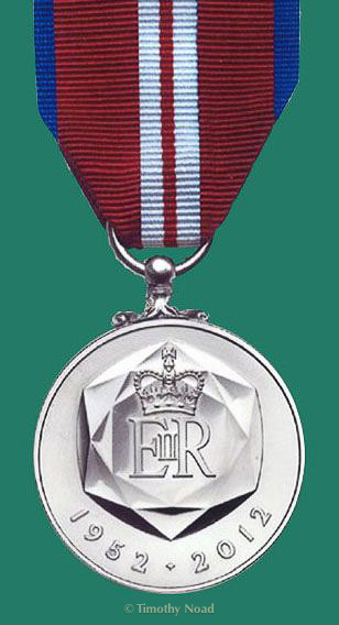 Reverse of the The Queen's Diamond Jubilee Medal 2012 coins and medals