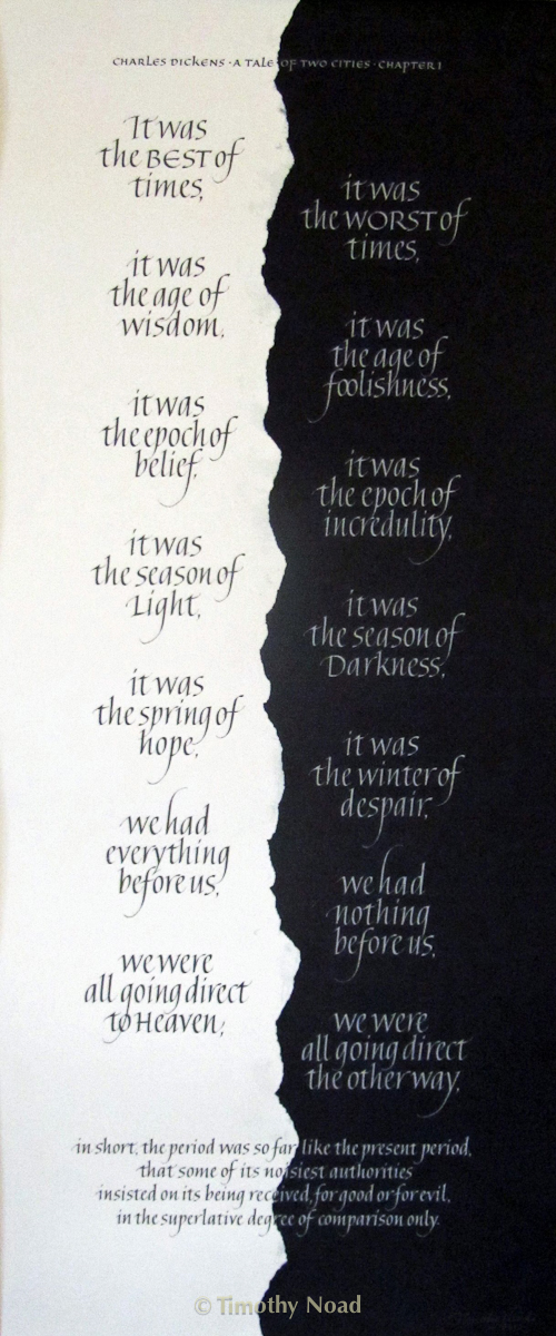 dickens calligraphy