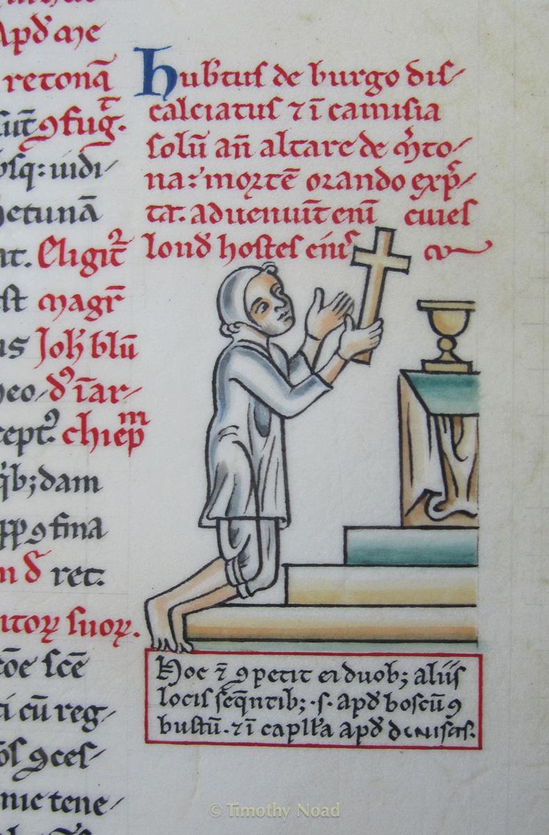 Hubert praying detail historical