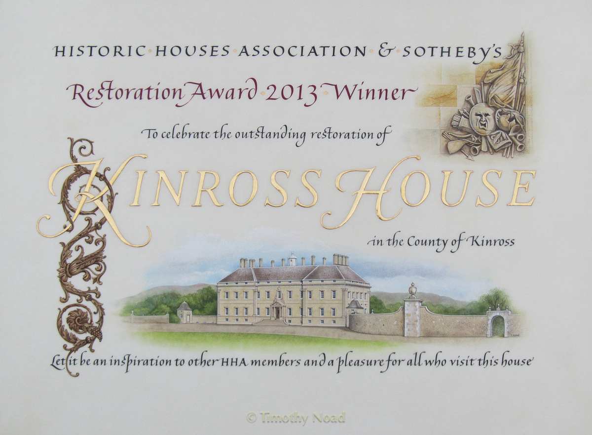 Kinross House commissions