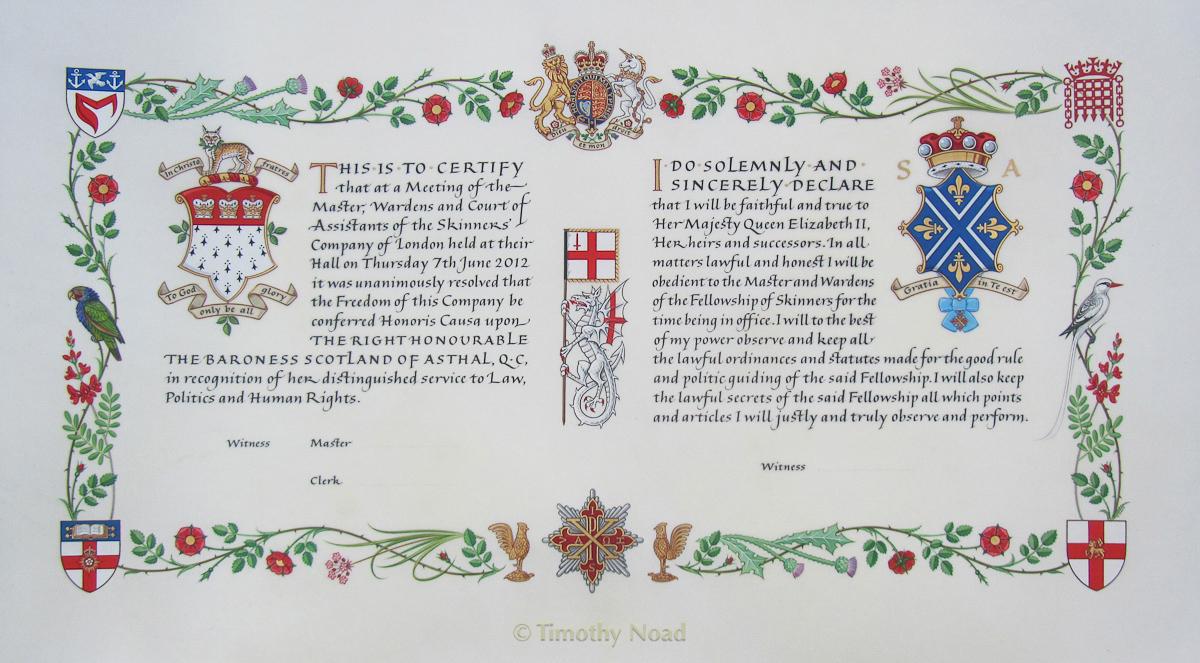 Lady Scotland heraldry