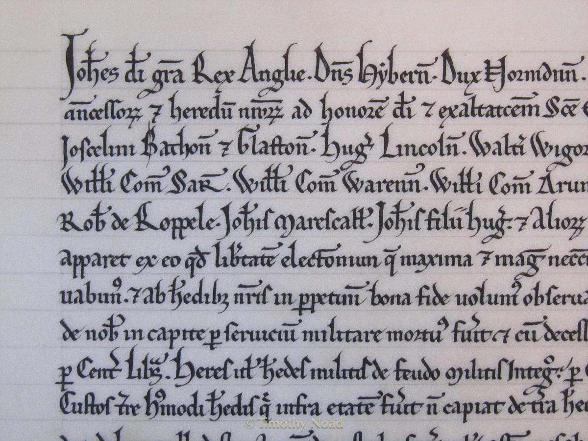 Magna Carta detail historical