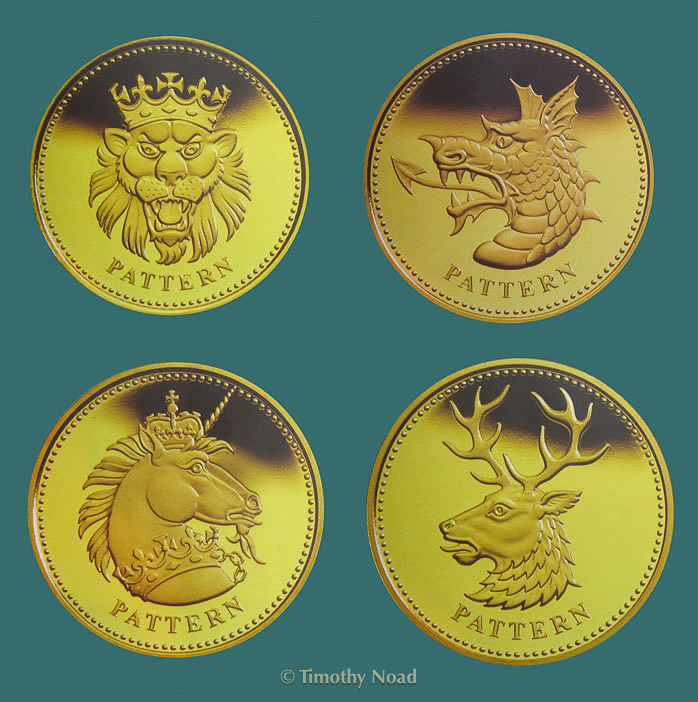 Pattern Set of Heraldic Beasts coins and medals