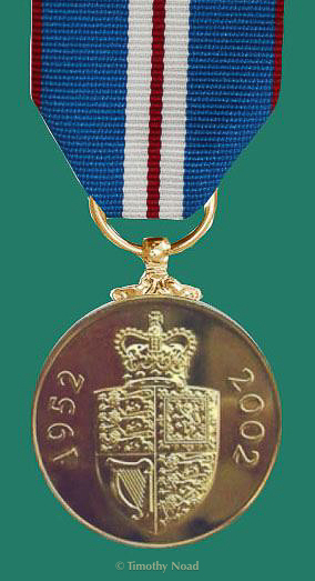 Reverse of The Queen's Golden Jubilee Medal 2002 coins and medals