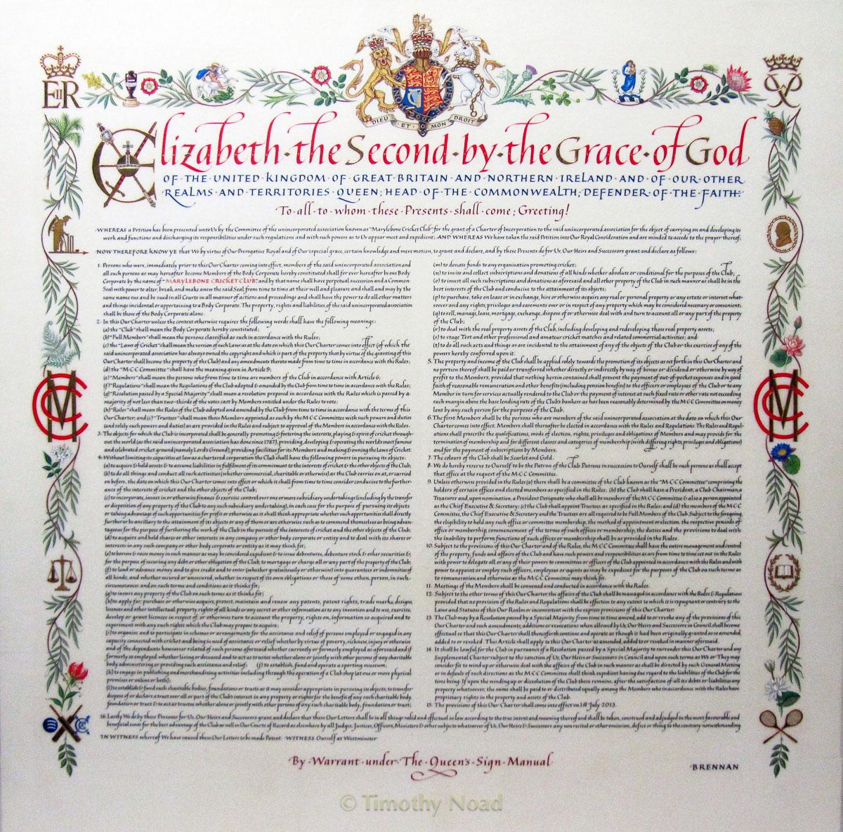 MC Charter royal charters