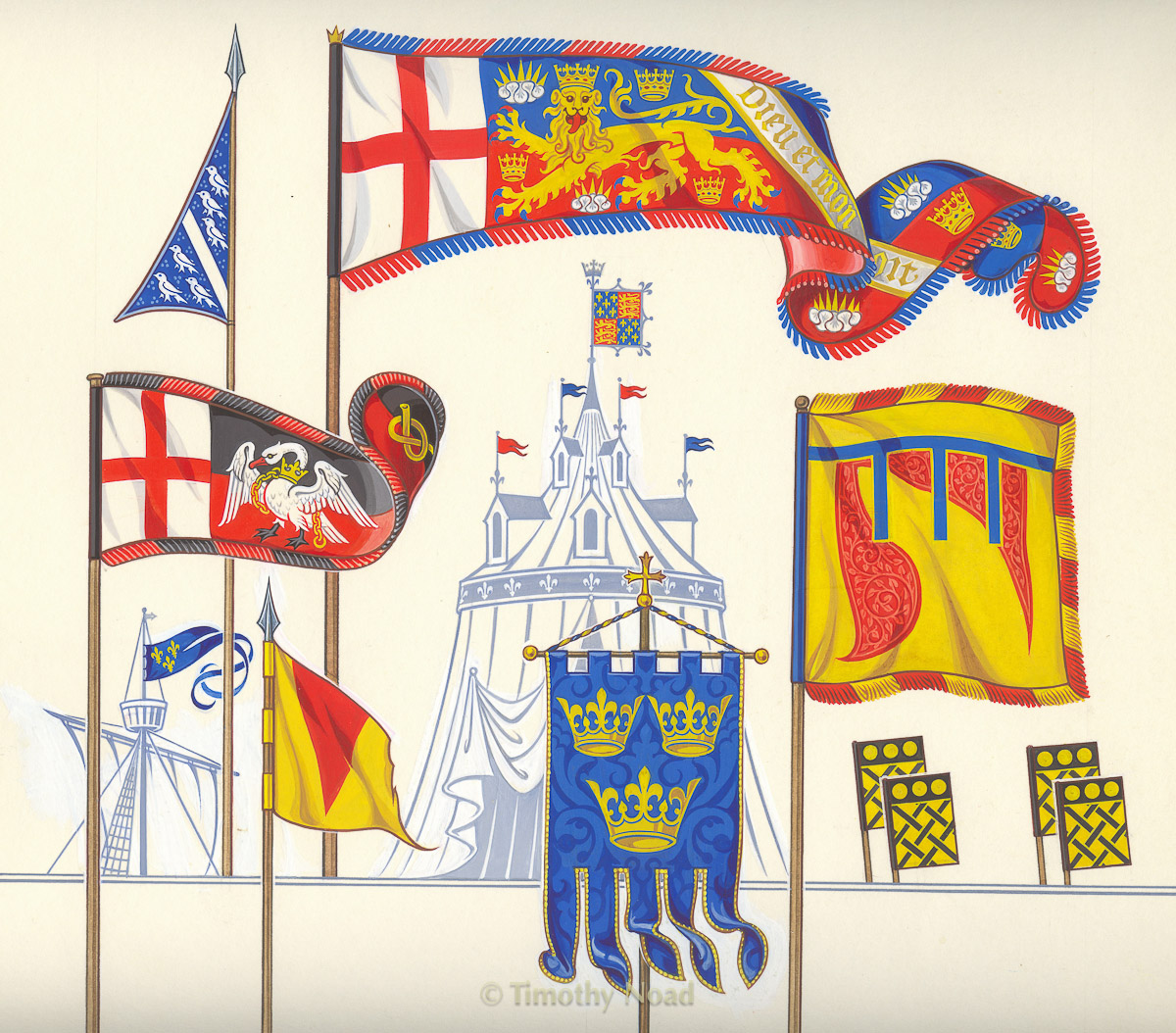 Lovett book heraldic flags heraldry