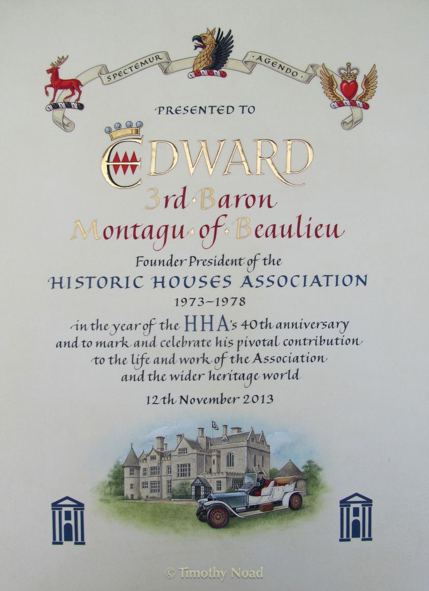 Montagu of Beaulieu HHA commissions