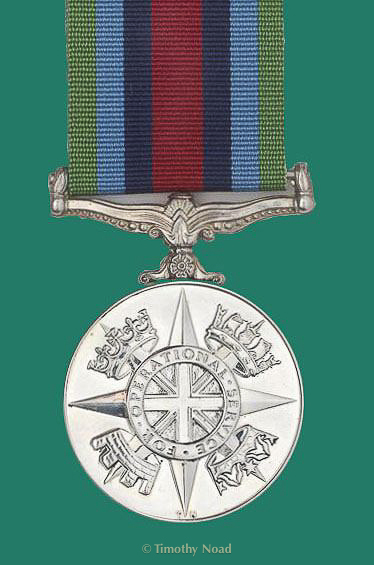 Operational Service Medal coins and medals
